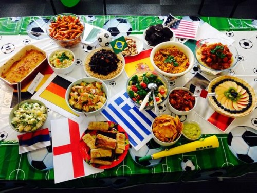 Randal cremer primary school international evening for Around the world cuisine