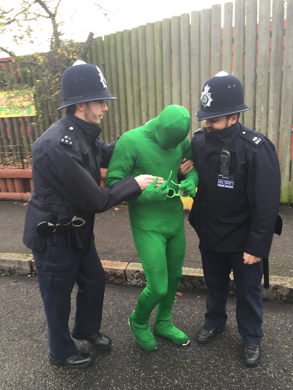 Alien apprehended at Randal Cremer Primary School