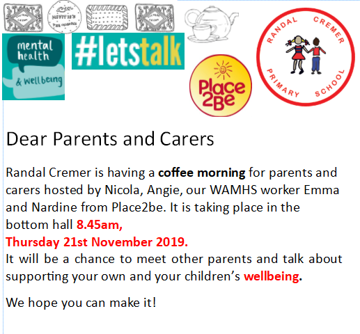 Coffee morning for parents